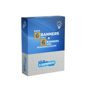 Pacote 6 Banners Full + 6 Banners Mini Personalizados