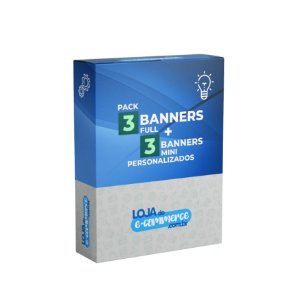 Pacote 3 Banners Full + 3 Banners Mini Personalizados