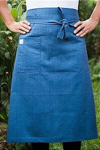 Avental de Cintura Azul Jeans Inteiro