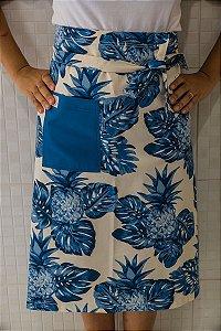 Avental de Cintura Abacaxi Azul Grande