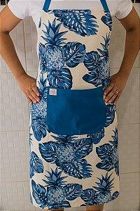 Avental de Corpo Abacaxi Azul Grande