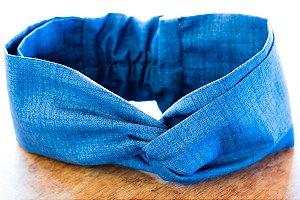 Faixa de Cabelo Azul Jeans