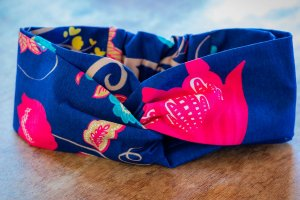 Faixa de Cabelo Azul Florida