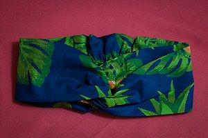 Faixa de Cabelo Abacaxi fundo Azul Marinho