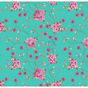 Tricoline Floral Ramos (Tiffany), 100% Algodão, Unid. 50cm x 1,50mt
