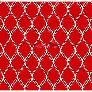 Tecido Tricoline Papel de Parede (Vermelho), 100% Algodão, Unid. 50cm x 1,50mt