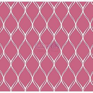 Tecido Tricoline Papel de Parede (Rosé), 100% Algodão, Unid. 50cm x 1,50mt