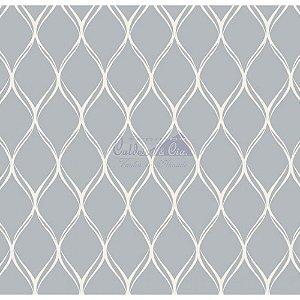 Tecido Tricoline Papel de Parede (Cinza), 100% Algodão, Unid. 50cm x 1,50mt
