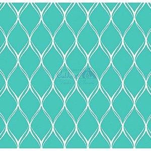 Tecido Tricoline Papel de Parede (Tiffany), 100% Algodão, Unid. 50cm x 1,50mt