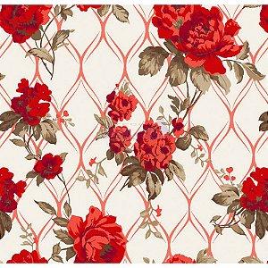 Tricoline Rosa Imperial (Vermelho), 100% Algodão, Unid. 50cm x 1,50mt