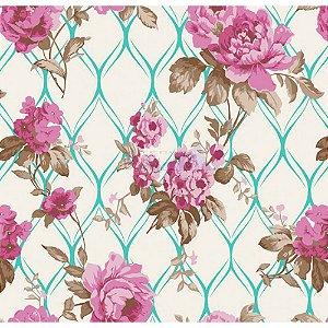 Tricoline Rosa Imperial (Tiffany), 100% Algodão, Unid. 50cm x 1,50mt