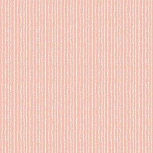 Tricoline Estampado Listras Rosa Cotton, 100% Algodão, Unid. 50cm x 1,50mt