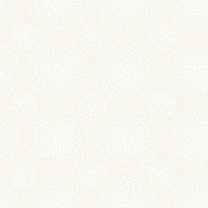 Tricoline Mandalas Branco - 100% Algodão, Unid. 50cm x 1,50mt