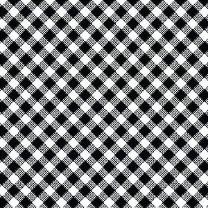 Tricoline Estampado Xadrez Diagonal Branco - 100% Algodão, Unid. 50cm x 1,50mt