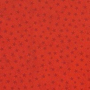 Tricoline Estampado Estrelinhas Vermelho - 100% Algodão, Unid. 50cm x 1,50mt