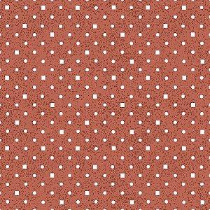 Tecido Tricoline Poá e Quadradinhos Vermelho, 100% Algodão, Unid. 50cm x 1,50mt