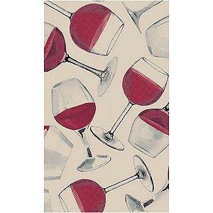 Tecido Tricoline Taças de Vinho, 100% Algodão, Unid. 50cm x 1,50mt