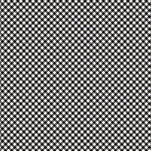 Tricoline Estampado Micro Xadrez Preto, 100% Algodão, Unid. 50cm x 1,50mt