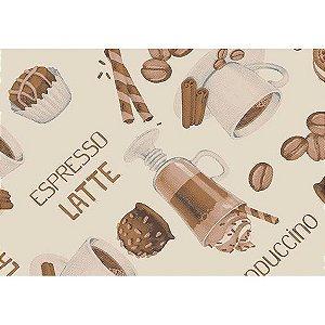 Tecido Tricoline Espresso Latte Bege, 100% Algodão, Unid. 50cm x 1,50mt