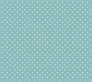 Tricoline Poá Pequeno (Branco Fundo Tiffany), 100% Algodão, Unid. 50cm x 1,50mt