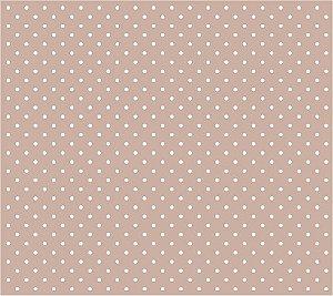 Tricoline Poá Pequeno (Branco Fundo Nude), 100% Algodão, Unid. 50cm x 1,50mt