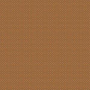 Tecido Tricoline Poá Castanho, 100% Algodão, 50cm x 1,50mt