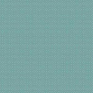 Tecido Tricoline Poá Jade, 100% Algodão, 50cm x 1,50mt