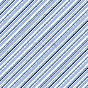 Tricoline Listrado Diagonal Bianca - Cor-08 (Azul) , 100% Algodão, Unid. 50cm x 1,50mt