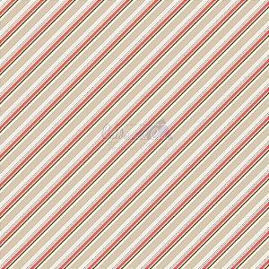 Tricoline Listrado Diagonal Bianca - Cor-02 (Bege) , 100% Algodão, Unid. 50cm x 1,50mt