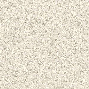 Tecido Tricoline Contornos Creme, 100% Algodão, 50cm x 1,50m
