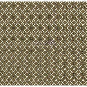 Tricoline Estampado Delicato Cor - 07 (Verde Musgo), 100% Algodão, Unid. 50cm x 1,50mt