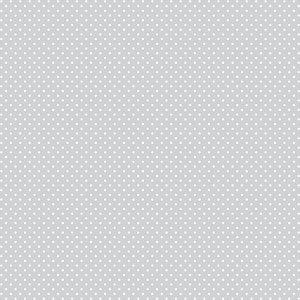 Tricoline Poá Peri Branco F. Cinza Cl 100%Alg, 50cm x 1,50mt