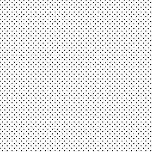 Tricoline Poá Peri Preto F. Branco 100%Alg, 50cm x 1,50mt