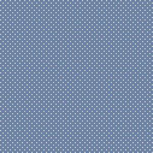 Tricoline Poá Peri Branco F. Azul J. 100%Alg, 50cm x 1,50mt