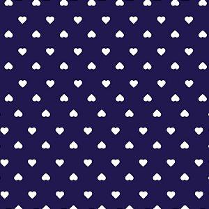 Tricoline Coração Branco F. Marinho, 100%Alg, 50cm x 1,50mt