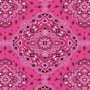Tecido Tricoline Bandana Pink, 100%Alg, 50cm x 1,50mt