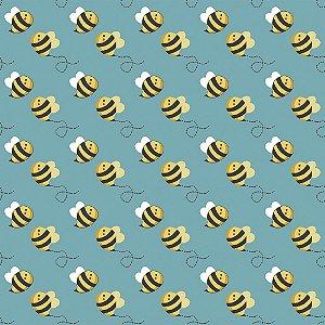 Tecido Tricoline Flying Bee, 100% Algodão, 50cm x 1,50mt