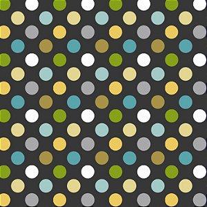 Tecido Tricoline Multi Dots, 100% Algodão, 50cm x 1,50mt