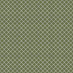 Tecido Tricoline Vitral Verde, 100% Algodão, 50cm x 1,50mt