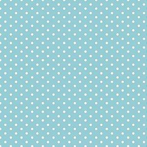 Tricoline Micro Poá Azul Amanhecer 100%Algodão, 50cm x 1,50m