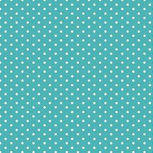 Tricoline Micro Poá Azul Poente, 100%Algodão, 50cm x 1,50mt