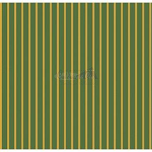 Tricoline Estampado Natal Listrado (Verde), 100% Algodão, Unid. 50cm x 1,50mt