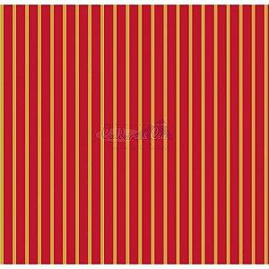 Tricoline Estampado Natal Listrado (Vermelho), 100% Algodão, Unid. 50cm x 1,50mt