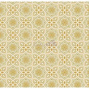 Tricoline Estampado Natal Mandalas (Bege), 100% Algodão, Unid. 50cm x 1,50mt