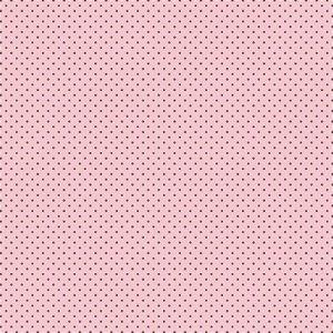 Tricoline Poá Peri Bege Fundo Rosa 100%Alg 50cm x 1,50m