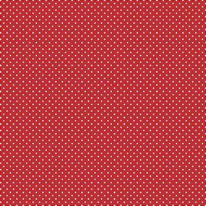 Tricoline Poá Peri Branco Fundo Vermelho, 50cm x 1,50mt