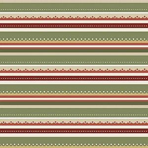 Tricoline Natal Digital Listrado, 100%Algodão, 50cm x 1,50mt
