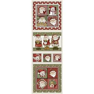 Tricoline Natal Digital Painel Happy Christmas, 50cm x 1,50m