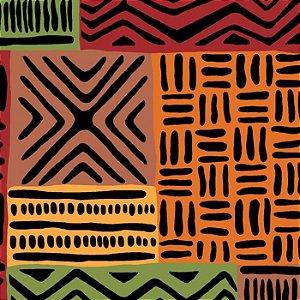 Tecido Tricoline África Colorido, 100% Algodão, 50cm x 1,50m