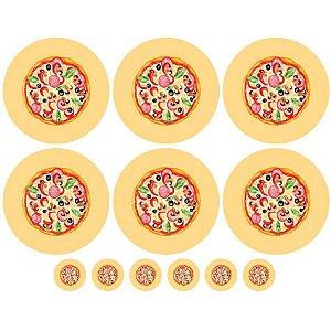 Sarja Painel Sousplat Pizza, 100% Poliester, 1,20mt x 1,50mt
